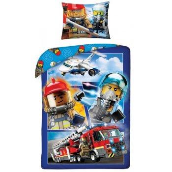 Bavlnené posteľné obliečky LEGO City - hasiči