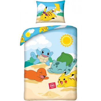 Bavlnené posteľné obliečky Pokémoni - Hano beach