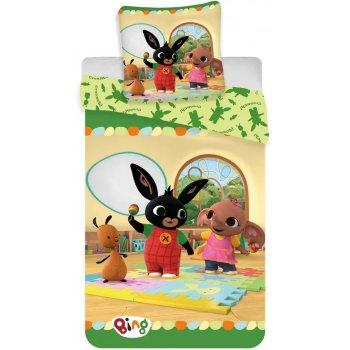 Detské posteľné obliečky Zajačik Bing v škôlke