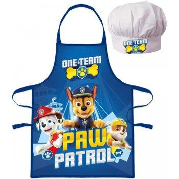 Chlapčenská zástera s kuchárskou čiapkou Paw Patrol - One Team