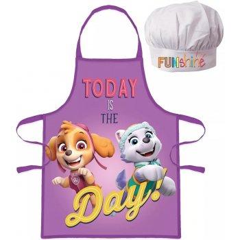 Dievčenská zástera s kuchárskou čiapkou Paw Patrol - Today is The day