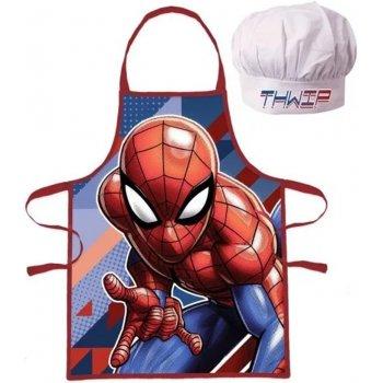 Detská zástera s kuchárskou čiapkou Spiderman - Thwip