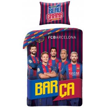 Bavlnené posteľné obliečky FC Barcelona - Blaugrana