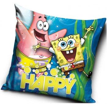 Obliečka na vankúš veselý Spongebob a Patrik - HAPPY