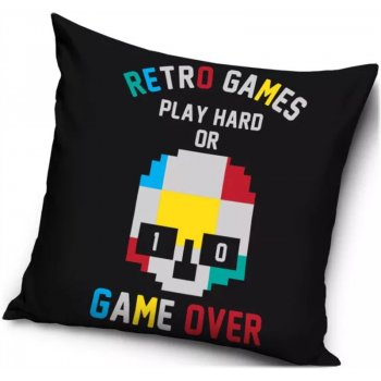 Vankúš Retro Games - Play hard or game over