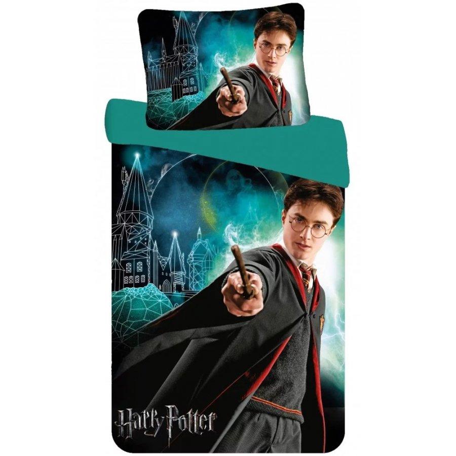 Setino · Bavlnené posteľné obliečky Harry Potter - motív Mladý čarodejník - 100% bavlna - 70 x 90 cm + 140 x 200 cm