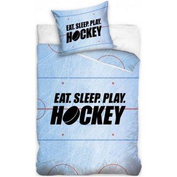 Bavlnené posteľné obliečky Eat. Sleep. Play Hockey