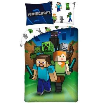 Bavlnené posteľné obliečky Minecraft - Útok