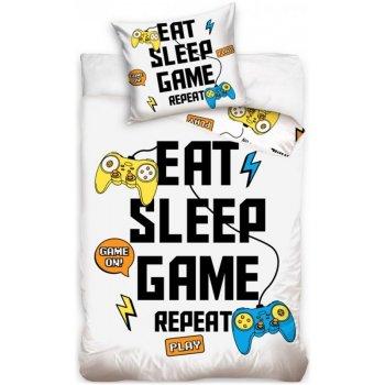 Bavlnené posteľné obliečky Eat - Sleep - Game and Repeat