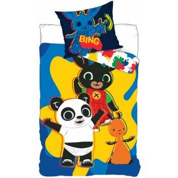 Obliečky do detskej postieľky Zajačik Bing - modré