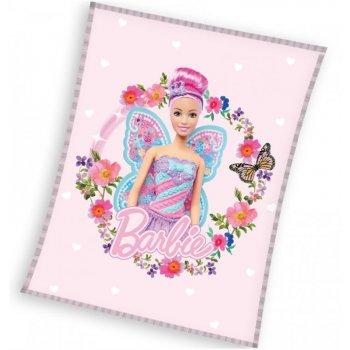 Fleecová deka Barbie - Motýlia víla