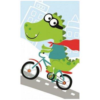 Detský uterák Krokodíl na bicykli