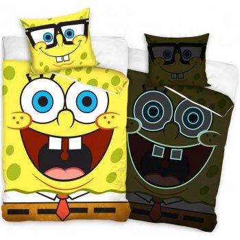 Bavlnené posteľné obliečky Vysmiaty SpongeBob - so svietiacim efektom