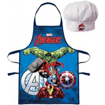 Detská zástera s kuchárskou čiapkou Avengers