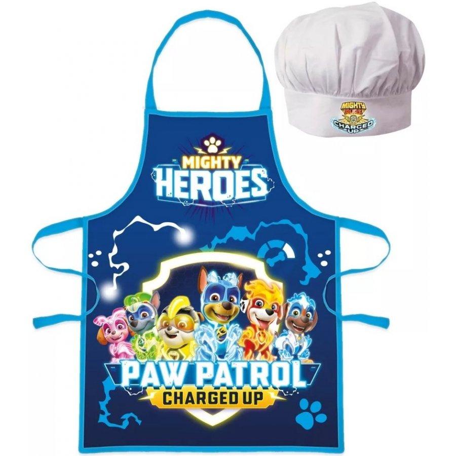Chlapčenská zástera s kuchárskou čiapkou Paw Patrol - Charged Up
