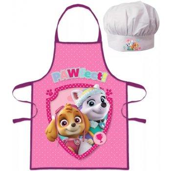 Dievčenská zástera s kuchárskou čiapkou Paw Patrol - PAWfect!