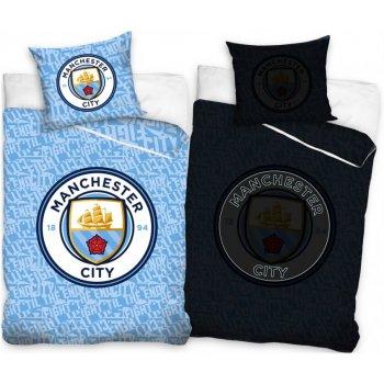 Bavlnené posteľné obliečky Manchester City - so svietiacim efektom