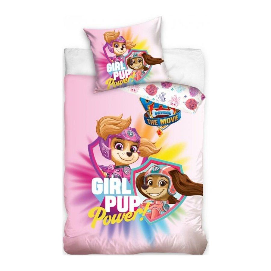 Bavlnené posteľné obliečky Labková patrola vo filme - Girl Pup Power
