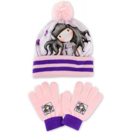 Dievčenská zimná čiapka + prstové rukavice Gorjuss - Santoro London