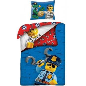 Bavlnené posteľné obliečky LEGO City - Policajt vs. väzeň