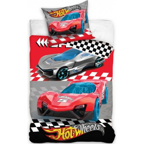 Bavlnené posteľné obliečky Hot Wheels - Speed