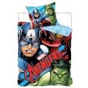 Bavlnené posteľné obliečky Avengers